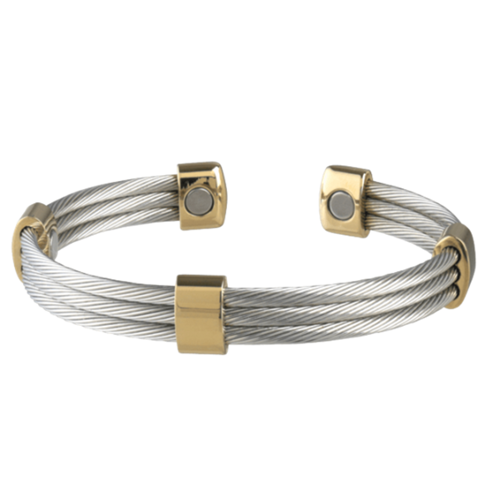 Picture of Sabona Trio Cable Stainless/Gold Magnetic